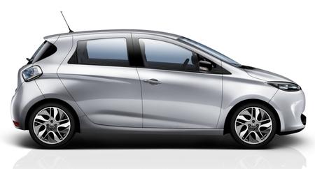 Renault ZOE gris plata vista lateral