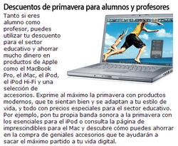 Apple Store, descuentos para estudiantes y profesores