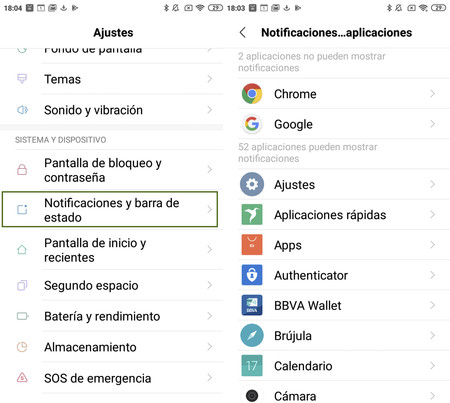 Notificaciones Aplicaciones