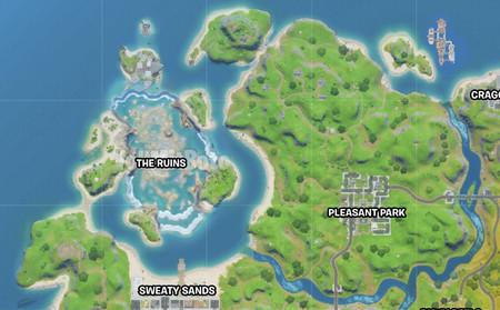 El mapa inundado de Fortnite tiene una zona oculta bajo el agua al más puro estilo la Atlántida