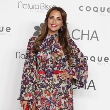 Paula Echevarría luce de lo más primaveral en la fiesta Tacha Beauty, aunque sin hacer sombra al resto de invitadas vip