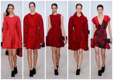 Giambattista Valli Color Rojo Oi 2014 2015 2