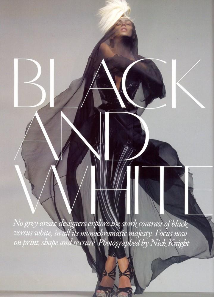 Foto de Vogue UK adelanta la tendencia blanco y negro con Anja Rubik (8/11)