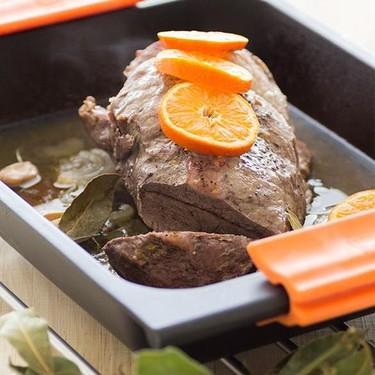 Asado de ternera con brandy y mandarinas: receta