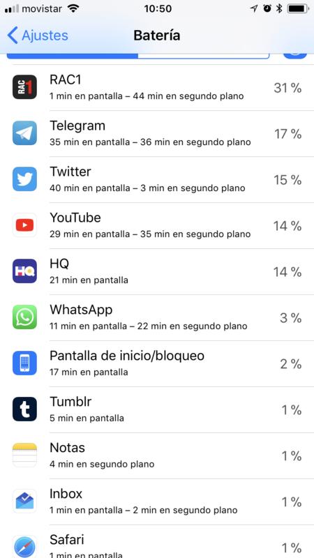 Ajustes Bateria Iphone Tiempo