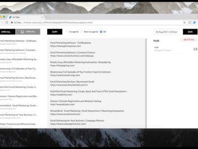 All Tabs para Chrome te ayuda a gestionar todas tus pestañas y a ahorrar memoria en el proceso