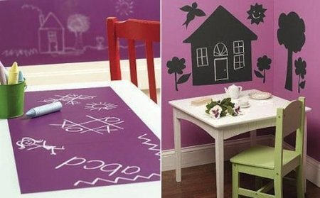 Pizarras adhesivas para decorar la habitación infantil