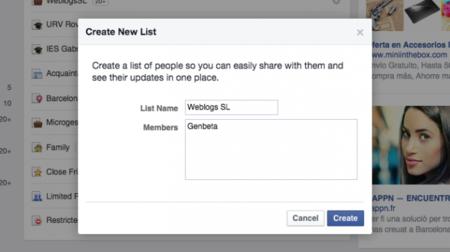Las listas no son sólo cosa de Twitter: crea una en Facebook y filtra a tus amigos
