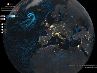 Este alucinante mapa del tiempo muestra las corrientes de aire en todo el mundo, atentos al tifón Soudelor