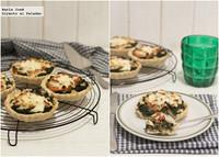 Receta de tartaletas de espinacas, tomates y queso