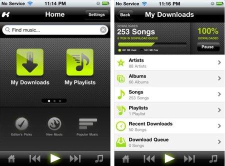 Kazaa ahora en iOS quiere darle pelea a Spotify