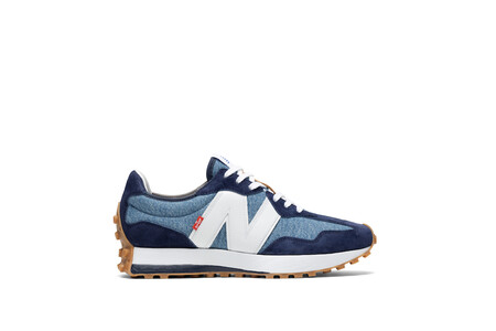 Levi S X New Balance Men S Indigo 327 Sneaker Outside