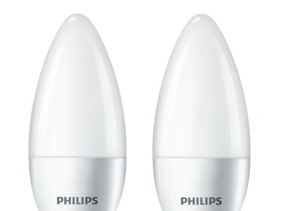 Pack de 2 bombillas LED Philips E14, de 5,5W, por 5,29 euros