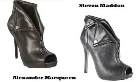 Botines clonados de Alexander McQueen en Steven Madden