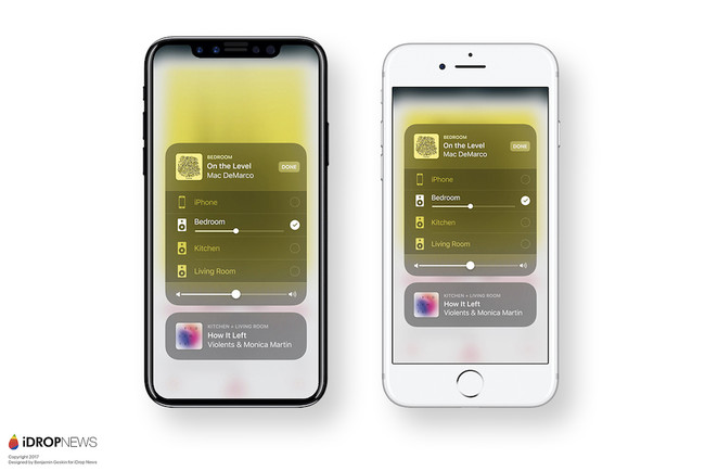 Concepto Iphone ocho Ios once Airplay 2