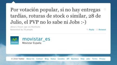 """Movistar """"anuncia"""" la fecha del lanzamiento del iPhone 4 en España [Desmentido por Movistar]"""