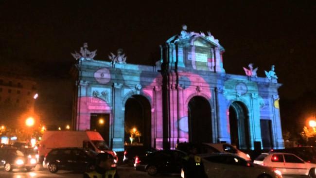 La Puerta de Alcalá conmemora el 25 aniversario de la caída del Muro de Berlín