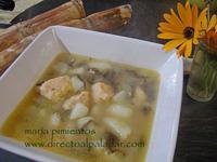Receta de salmón con algas en sopa