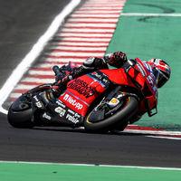 El fruto del teletrabajo de Ducati: probaron en los test de Misano una nueva cubierta para la rueda delantera