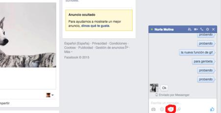 Facebook amplia las funcionalidades de su chat y añade un buscador de Gifs a Messenger