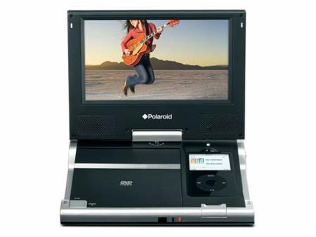 Reproductor portátil de DVD con dock para iPod