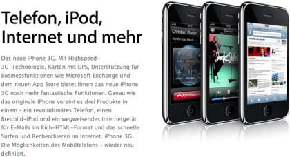 T-Mobile venderá el iPhone 3G alemán a un euro