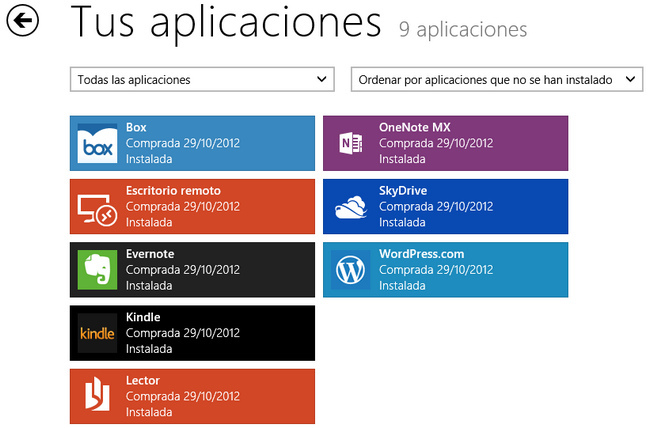 Instalar Aplicaciones Windows 8