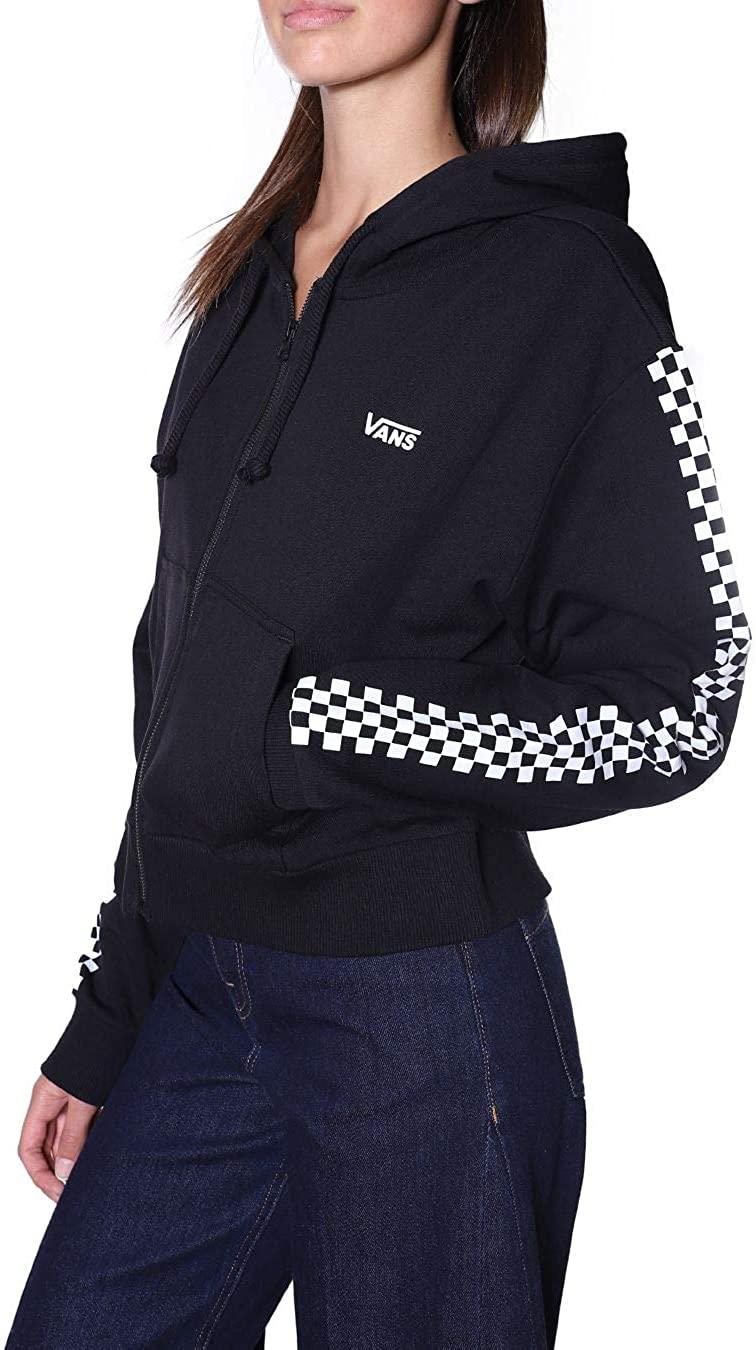 Vans Funnier Times Crop Zip Hoodie Sudadera con Capucha para Mujer