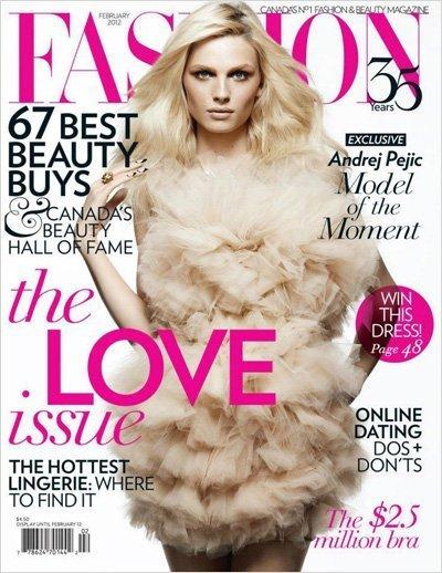 Andrej Pejic en la portada de Fashion Canada, no solo lucimos nosotras las tendencias de temporada