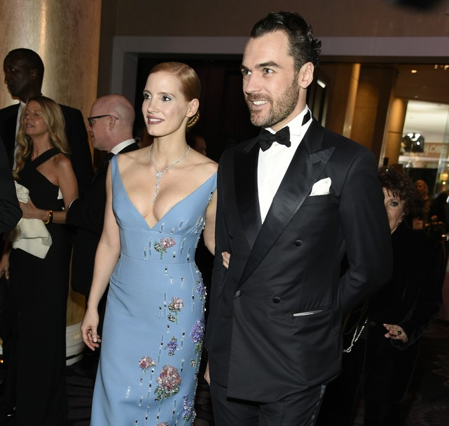 Ya se nos casó Jessica Chastain con su aristócrata italiano y estaba lleno de famosos