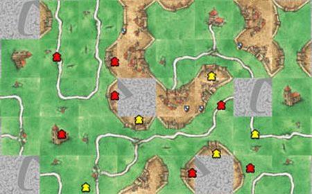 Una partida online de Carcassonne