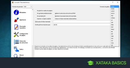 Cómo pasar un archivo PDF a formato eBook: ePub, MOBI, AZW3 de Amazon o BbeB de Sony