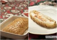 Muselina de pescado Wellington. Receta de Navidad