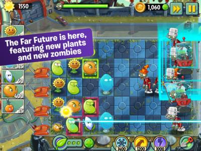 Plants vs. Zombies 2 recibe 'el futuro' con nuevos niveles, plantas y zombies