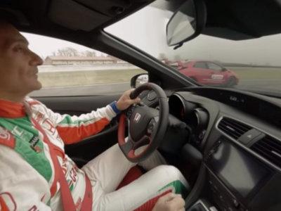Gabriele Tarquini te invita a rodar en Nuvolari en este vídeo 360 con los Honda Civic Type R y Civic WTCC