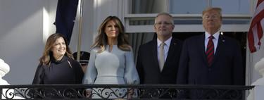 Melania Trump afronta la llegada del otoño apostando por dos looks en tonos pastel ideales