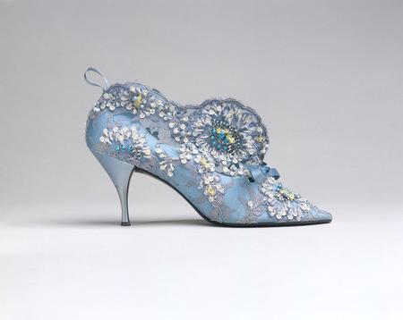 Stiletto encaje brocado Vivier for Dior