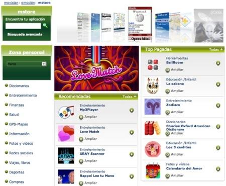 mstore, la tienda de aplicaciones de Movistar