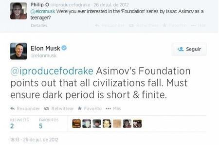 Elon Musk Asimov Twitter