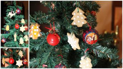 Galletas decoradas para el árbol de Navidad para hacer con los niños