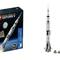 El emblemático cohete Saturno V tendrá su propio set de LEGO, y medirá más de un metro