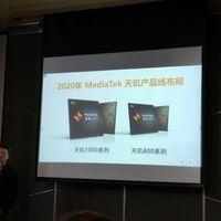 El MediaTek Dimensity 800 con 5G se deja ver en una presentación de la compañía
