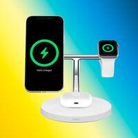 Recarga tu iPhone, Apple Watch y AirPods con la elegante base MagSafe Belkin BoostCharge PRO, que roza los 100 euros en Amazon