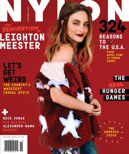 Leighton Meester Nylon Magazine Noviembre 2014