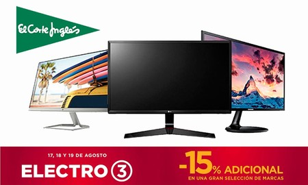 17 monitores Philips, LG o HP en oferta, en el Electro 3 de El Corte Inglés para ahorrar preparándote para el nuevo curso