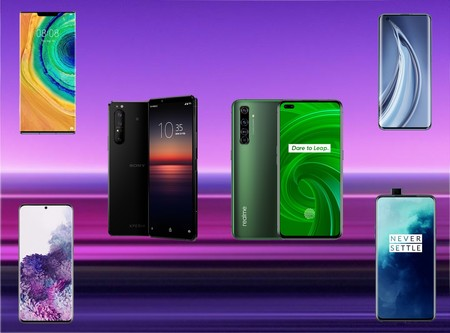 Comparativa del Realme X50 Pro 5G y Sony Xperia 1 II frente al Samsung Galaxy S20+, Xiaomi Mi 10 Pro y los mejores gama alta del mercado