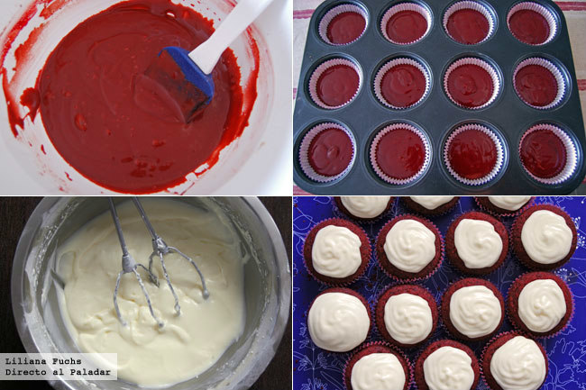 Red Velvet Cupcakes. Pasos