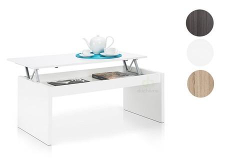 Mesa de centro elevable  Habitdesign con medidas de 102 x 50 x 43/52 cm por 60 euros en Amazon y envío gratis