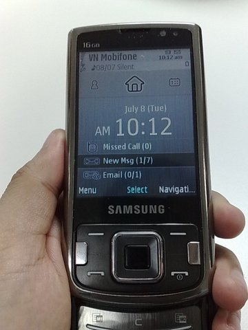 Samsung i8510, móvil con cámara de 8 megapíxeles