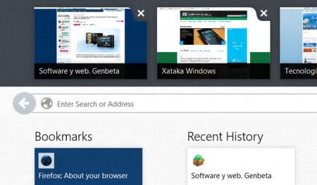 Firefox para Windows 8 Modern UI. Lo hemos probado